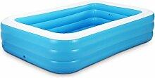 YG Aufblasbare Badewanne Familie Aufblasbare Schwimmbecken Drei Schichten 305 * 183 * 60CM flache Unterseite ( größe : 130cm*90cm*50cm )