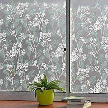 YGHBKL Grünes Blatt Dekorative Fensterfolie, PVC