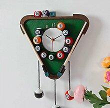 YGL Creative Creative Uhren Wallpain Wanduhren Moderne Kunst Wanduhren Heimtextilien Uhren,Grün