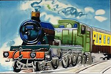 YH-Arts 8x 12Zoll Steam Train Kunst Fliesen,