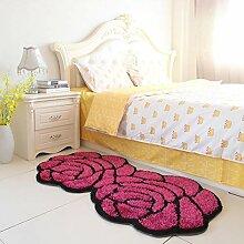 YHEGV 3D Rose Muster Hochzeit Teppich Pad