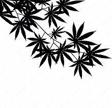 YHEGV Unkraut Baum Blatt Ahorn Hanf Blätter Vinyl
