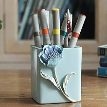 YHJ Stifthalter Kreatives Pendel Dreidimensionale Blumen Home Decoration Dekoration Nordic Wind Einfache Mode Pen Holder