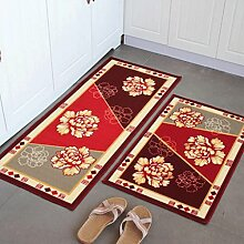 YHJ Teppich Amerikanische Küche Fußmatten Türmatten Küche Fußmatten Halle Osmanen drücken Sie die Tür Decken Absorbent Non - Rutschmatten ( Farbe : Flower Series )