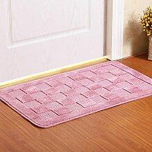 YHJ Teppich Matratze Tür Matratze Tür Tür Teppich-Decken-Matte Küche Flur Badezimmer Anti - Skid Absorbent Pad ( Farbe : Kaffee - farbe , größe : 50cm*80cm )