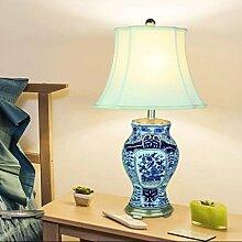 YHJ Tischleuchte Moderne Keramik Tischlampe Retro Nachttischlampe Wohnzimmer-Dekoration Tischlampe