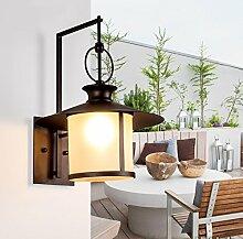 YHJ Wandlampe Kreative Persönlichkeit Wasserdicht Sonnenschutz Im Freien Innenhof Schlafzimmer Nachtwandlampe