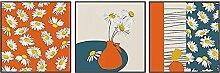 YHJK Leinwand Poster abstrakte Mode Retro