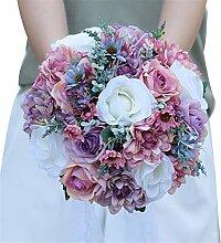 Yhjklm Handgemachter Hochzeit Brautstrauß Braut