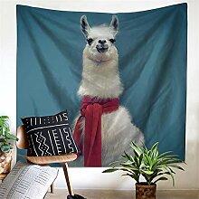 Yhjklm Wandbehang Tapisserie Alpaka Tier Polyester