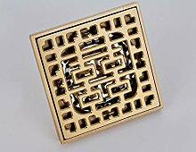 YHSGY Bodenablauf Abflüsse 10X10Cm Quadrat Gold