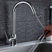 YHSGY Küchenarmatur Küchenauszug Wasserhahn Gold