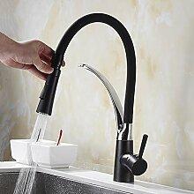 YHSGY Küchenarmatur Kupfer Schwarze Farbe