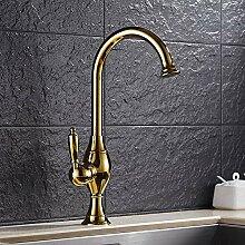 YHSGY Küchenarmatur Kupfer Wasserhahn Heiß Und