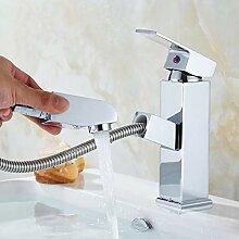 YHSGY Waschtischarmaturen Pull-Typ Becken Heißes
