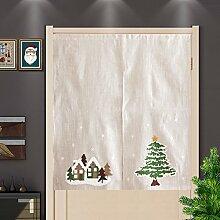 YHviking Baumwoll Leinen Vorhang,Japanische
