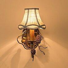 Yhz@ American Village Vintage Eisen Wandlampen &
