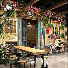 Yhzer 3D Mural Tapeten Mediterranen Fenster Rosen