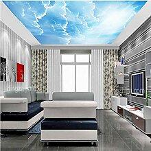 Yhzer Blauer Himmel Weiße Wolken Sonnenlicht 3D
