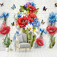 Yhzer Minimalistische 3D Chrysantheme Mauer Tapete