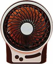 YI 3-Stufiger Ventilator Stummt Beweglicher Handgehaltener Usb-Nachladbarer Lithiumbatterieventilator , Black,black