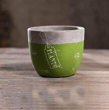 YI American Creative Cafe Dekoration / Bar Zement Aschenbecher / Büro Dekoration / Retro Ornament / Mode Ideen , green