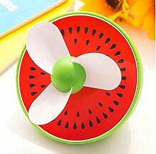 YI Frucht Kleine Ventilator Usb Wiederaufladbare, Tragbare Student Ultra-Ruhigen Büro-Fan , Watermelon,watermelon
