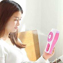 YI Wiederaufladbare Sprayfächer, Kreative Befeuchtung Usb-Elektrischer Ventilator, Beweglicher Handgemachter Kleiner Ventilator , Pink,pink