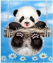 yibenwanligod Torten-Panda, 5d Diamant Gemälde DIY Stickerei Kreuzstich-Set, Wand-Dekor