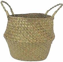 Yibuf Seagrass Rattan-Korb, faltbar, faltbar,