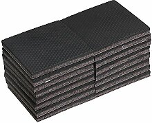 Yibuy 16 x quadratische 7,6 cm schwarze
