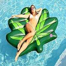 YiCan Grünes Blatt Aufblasbares PVC-Sich Hin- Und