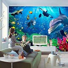 YIERLIFE 3D Fototapeten Vlies Wandbild - Blauer