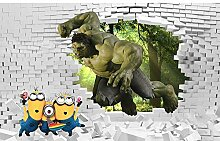 YIERLIFE Tapeten Wandtapete 3D Fotoposter Wanddeko