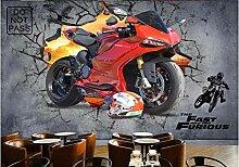 YIERLIFE Wandbild 3D Wandtattoo Aufkleber - Rote