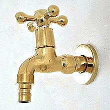 Yiffshunl Wasserhahn auf poliertem Gold Messing