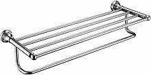 YiHang @ All-Kupfer Doppel- Handtuchhalter Handtuchhalter Bad-Accessoires Doppelhandtuchhalter Bad-Racks,Chrome