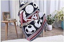 YIIVAN Fußball Baumwolle Sofa Cover Plaids Decke