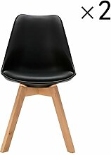 YiLianDa 2er Set Retro Esszimmer-Stuhl ohne