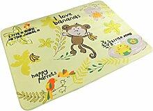 YiLianDaD Teppich Kinderteppich Spielteppich Kinder Baby Krabbeldecke Training Schlafzimmer Wohnzimmer Dekoartikel Balkon Picknick