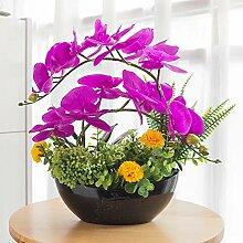 YILIYAJIA Kunstpflanze Orchidee Bonsai, mit