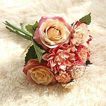 Yilufa Dahlien-Blumenstrauß künstliche Blumen
