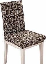 Yimmi 4pcs Hussen Herausnehmbare waschbare Stuhl Slipcovers für Bankett / Hotel / Zeremonie / Esszimmer Home Decor