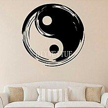 Yin Yang Vinyl Wandaufkleber Yoga Gym Aufkleber