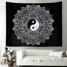 Yin Yang Wandteppich Indisch Mandala Wandbehang