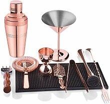 Yinaa Cocktailshaker Geschenk Edelstahl Bar Set 10