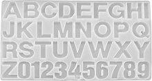 YINETTECH DIY Silikon Buchstaben Zahlen Alphabet