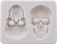 Yinew 3D Halloween Totenkopf Silikonform