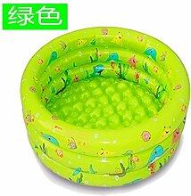 Yingtan Der Ocean Pool Schwimmbad Swimmingpool Aufblasbare Badewanne Waschbecken Angeln Spielzeug, Grün 150 Cm