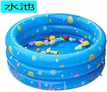 Yingtan Der Ocean Pool Schwimmbad Swimmingpool Aufblasbare Badewanne Waschbecken Angeln Spielzeug, Blau 130 Cm